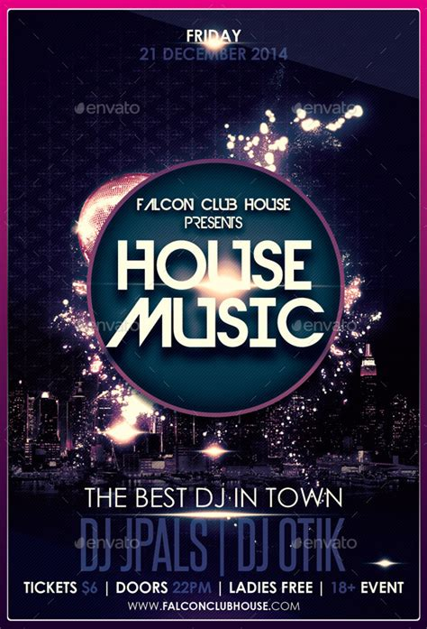 party house music house music party flyer by falconlabdesigns graphicriver