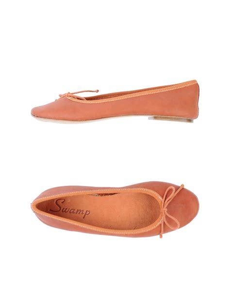 orange shoes flats sw ballet flats in orange lyst