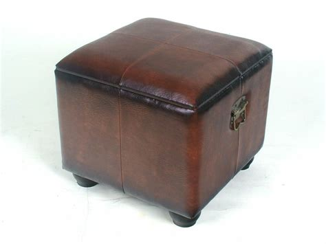 faux leather storage ottoman brown faux leather ottoman images