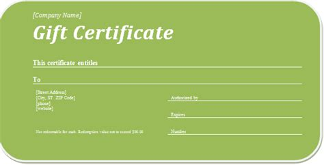 business gift certificate template for word document hub