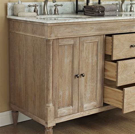Rustic Chic 60 Quot Vanity Double Bowl Weathered Oak Weathered Bathroom Vanity