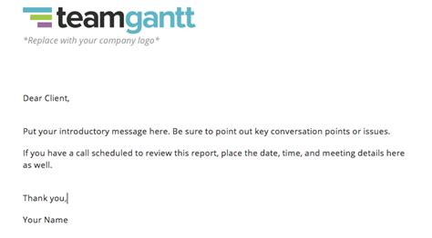 Project Status Report Template And Status Report Exles Teamgantt Status Update Email Template