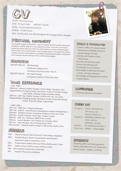Cv Ideas by 17 Best Images About Curriculums Creativos On