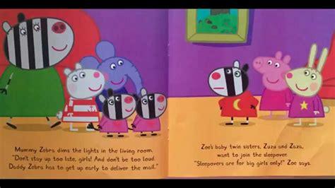 peppa s s day peppa pig books peppa s sleepover peppa pig book storytime book