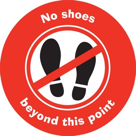 with no shoes no101 no shoes sign safety signs safety