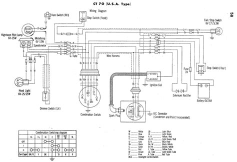 ct70 wiring diagrams vintage honda ct70 motorcycles