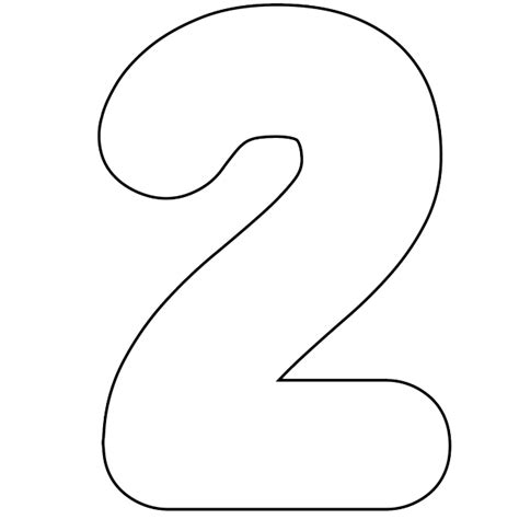 Printable Images | 6 best images of free printable number template 2 number