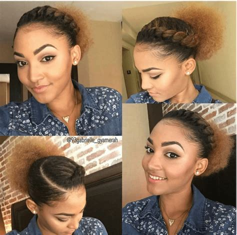 cute hairstyles for thick natural hair super cute flat twist puff ig 93gabrielle gyamerah