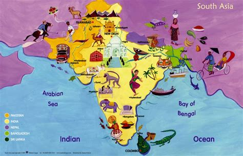 map of southern asia india khareena