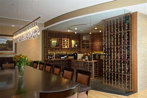Wine Cellar Dining Room by Lakeshore Wine Cellars Custom Wine Cellar Projects Gallery