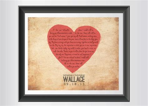 Wedding Song Keepsake by Personalized Wedding Song Keepsake Print By