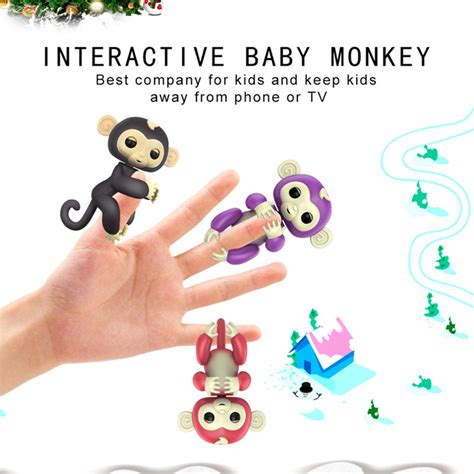 Interactive Baby Monkeys Smart Colorful Fingers Induction Toys finger baby interactive pet monkey smart colorful induction toys for children