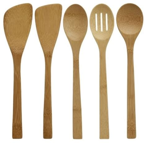Kitchen Tools 5 Bamboo Utensil Set In Cooking Utensils Cooking