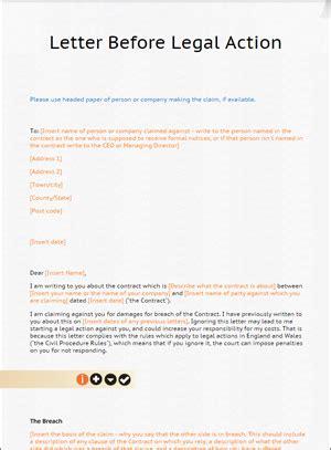 letter before template letter before template from lawbite