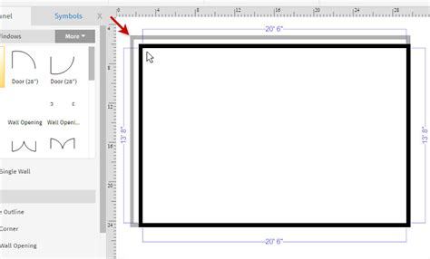draw room dimensions how to draw a floor plan with smartdraw