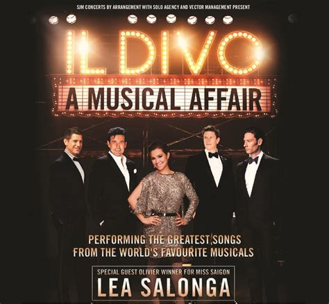 il divo a musical affair il divo a musical affair with special guest lea salonga