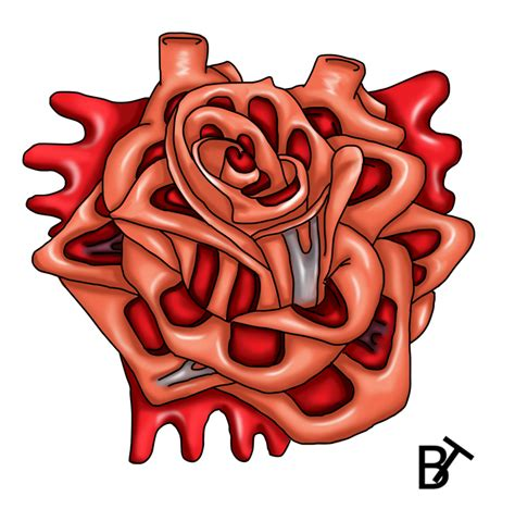 heart with roses tattoo the gallery for gt and designs