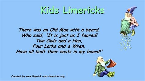 limerick format template image gallery limerick exles