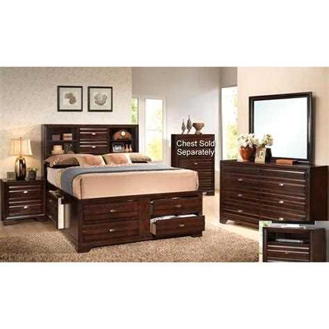 King Bedroom Furniture Sets Stella Merlot 7 King Bedroom Set