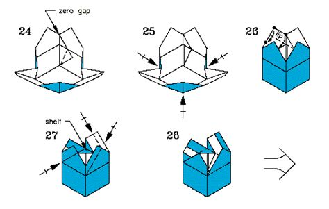 You Cannot Bisect An Angle Using Paper Folding Constructions - folding diagrams for jasper s box p 3 of 3 steps 24 29