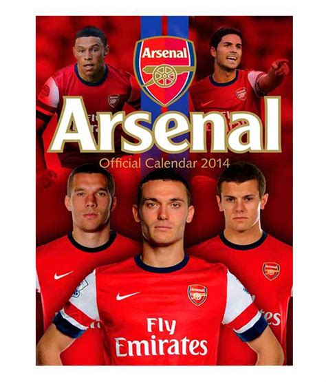 arsenal calendar arsenal 2014 calendar buy arsenal 2014 calendar at best