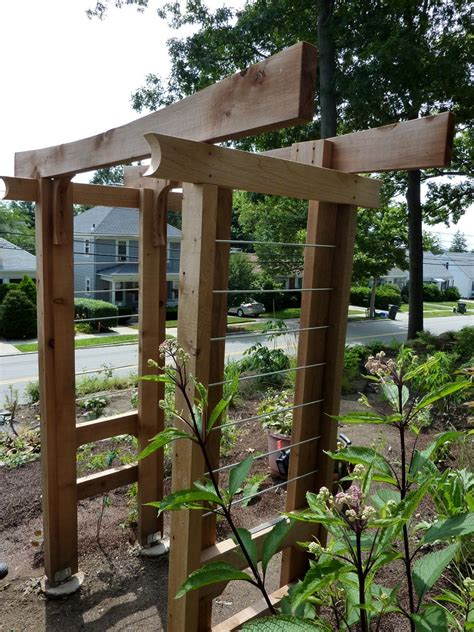 Diy Arbor Trellis diy arbor trellis the owner builder network