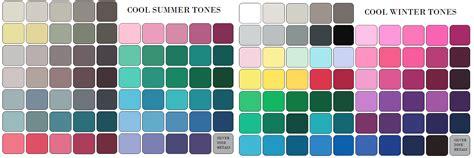 cool winter color palette cool summer palette on pinterest summer colors summer