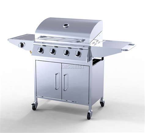 Grill For Bbq Stainless Steel by Foxhunter 4 Burner Bbq Gas Grill Stainless Steel Barbecue
