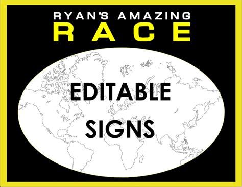 Amazing Race Editable Templates Free Amazing Race Party Supplies And Invitations