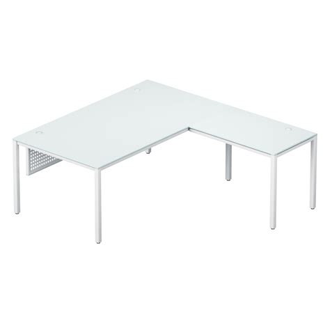 l desk white sling l desk white glass top