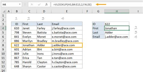 Lookup In Excel How To Use The Excel Vlookup Function Exceljet