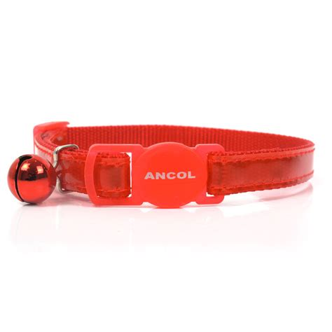 safety collar ancol reflective cat collar safety or gloss reflective cat collars with bell ebay