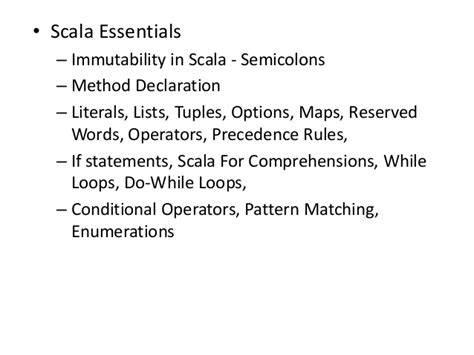 scala pattern matching if else apache park scala online trainings course content