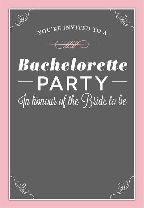 bachelorette invitations templates free bachelorette invitation free printable