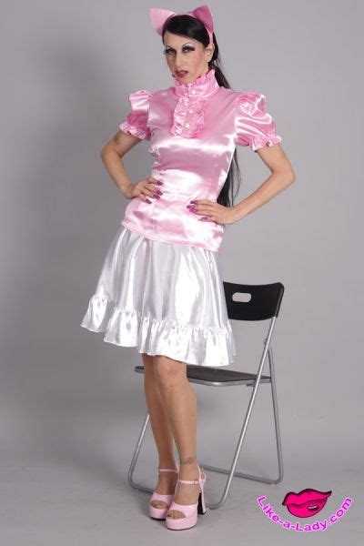 high neck satin volant ruffle blouse   Like a lady.com   Pinterest   Ruffle blouse, Satin and Style