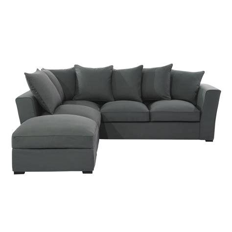 divani ad angolo in tessuto divano ad angolo grigio ardesia in tessuto 5 posti