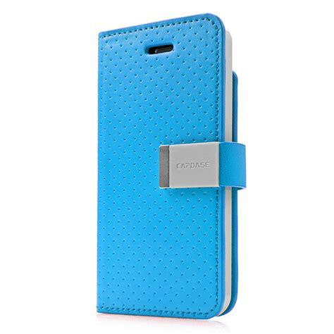 Capdase Polka Iphone 5 iphonese 5s 5 ケース folder sider polka blue grey