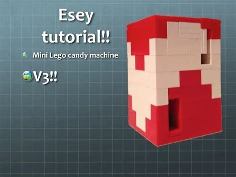 tutorial video lego how to build easy lego candy machine tutorial