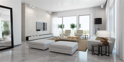 White Modern Living Room by Modern White Living Room Interior Design Ideas