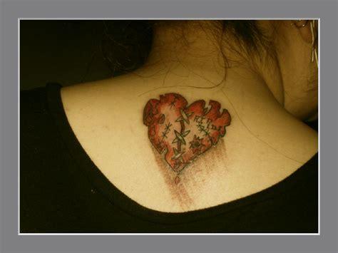 tattoos broken heart designs broken on back tattooshunt