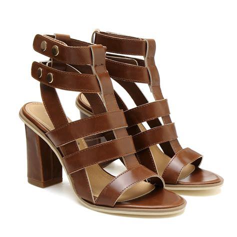 sandals in gladiator heeled sandals in brown us 69 95 yoins