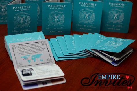 destination wedding invitations punta cana custom destination passport wedding invitations canada