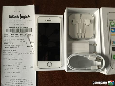 iphone 5 corte ingles precio vendo iphone 5s 16gb plata libre factura el corte ingles