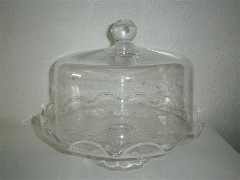 princess house com vintage princess house cake plate w dome in box crystal heritage patt