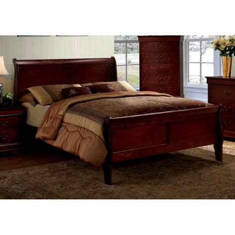 platform sleigh bed furniture of america cedric queen platform sleigh bed in