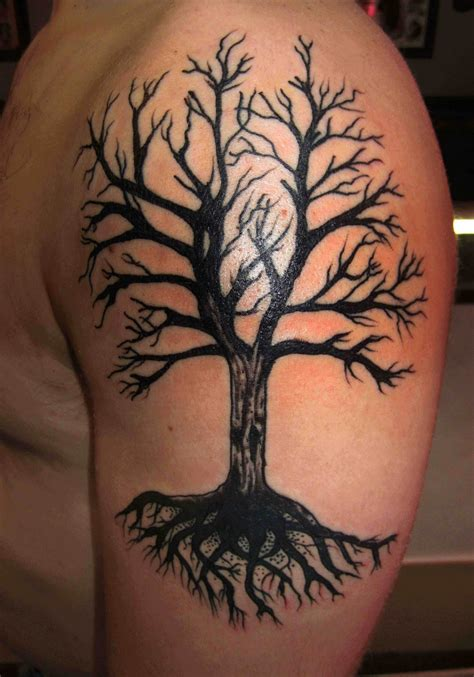 dead tree tattoos dead tree on arm tattoomagz
