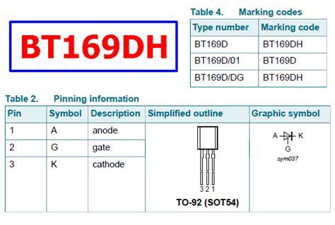 fungsi transistor bt 169 fungsi transistor bt 169 28 images elektronik bt169 datasheet pdf unisonic technologies