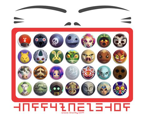 Masker The Shop happy mask shop buttons by versiris on deviantart