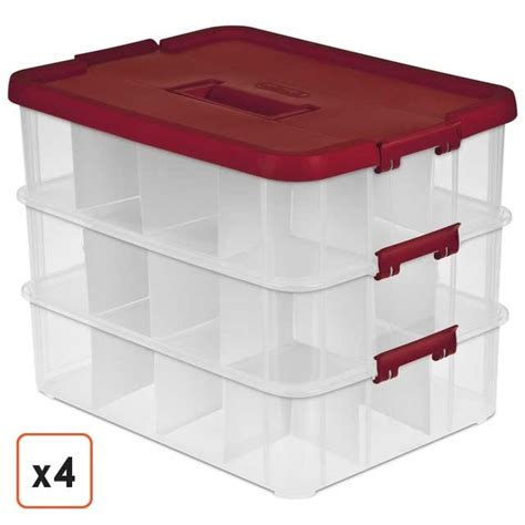 plastic ornament storage containers ornament storage boxes plastic