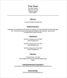 Resume Template Pdf by 40 Blank Resume Templates Free Samples Examples